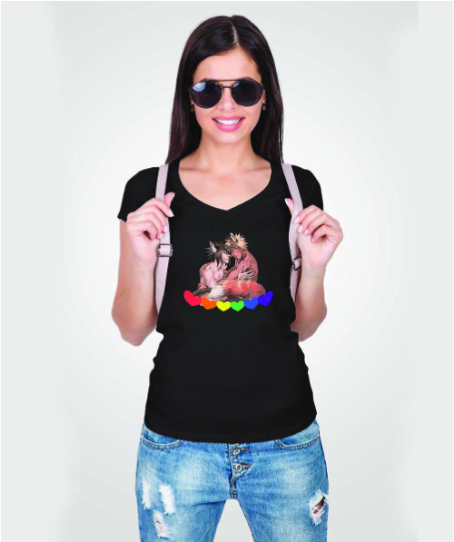 Ladies V-Neck T-shirt - Pride-2