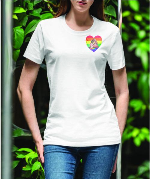 Ladies Round Neck T-shirt - Pride-3